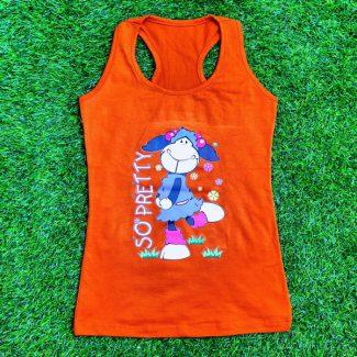 تاپ زنانه پشت رکابی نارنجی