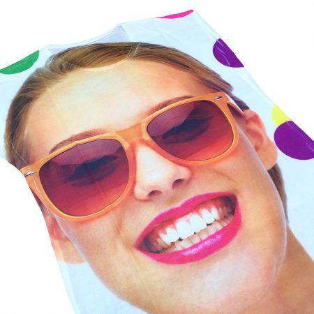 تاپ زنانه طرح چهره با عینک