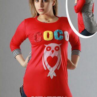 تونیک زنانه کوکو قرمز حراجی