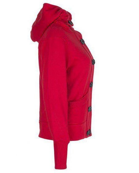 سویشرت تو کرکی زنانه قرمز