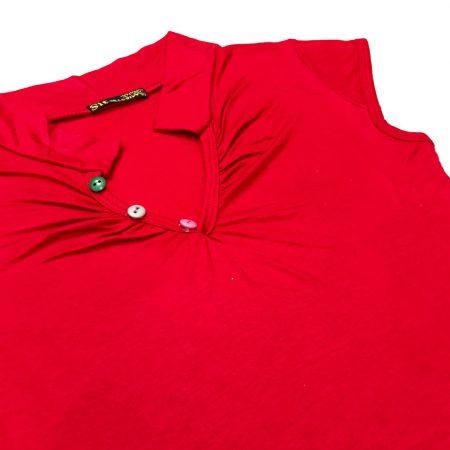 تاپ زنانه 3 دکمه سیتا تین قرمز
