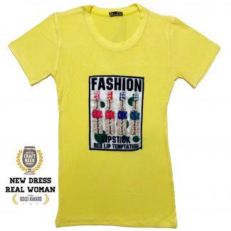 تیشرت زنانه سیتا تیین رنگ لیمویی