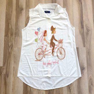 تاپ شونیز دچرخه سواری سفید