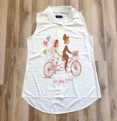 بلوز زنانه دختر دوچرخه بنتون