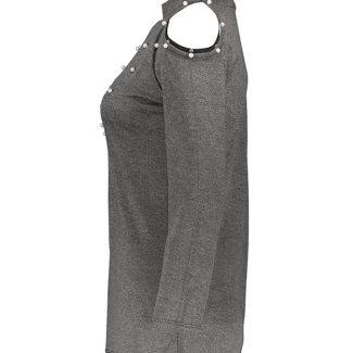 بلوز زنانه پشمی اعلا حراجی طوسی پر رنگ