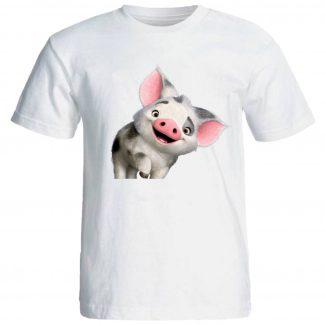 تیشرت زنانه طرح خوک کد 1