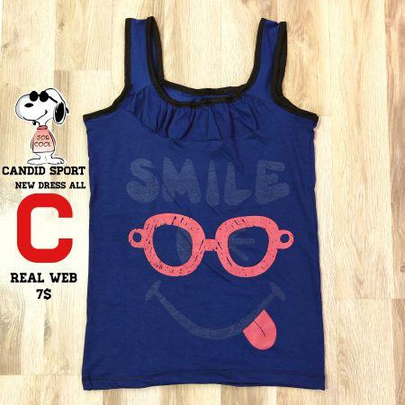 تاپ دخترانه طرح عینک سرمه ای
