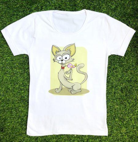 تیشرت دخترانه گربه